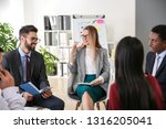 people at nlp training in office   Shutterstock . vector #1316205041