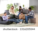 group of people at nlp training | Shutterstock . vector #1316205044