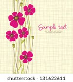 card with seamless poppy flowers | Shutterstock .eps vector #131622611