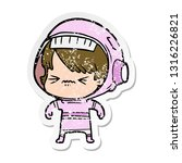distressed sticker of a angry...   Shutterstock .eps vector #1316226821