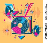 funky colorful music design  ... | Shutterstock .eps vector #1316230367