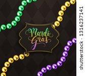 mardi gras holiday decorative... | Shutterstock .eps vector #1316237141