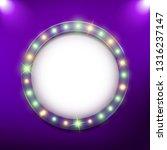 round shiny retro billboard... | Shutterstock .eps vector #1316237147