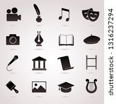 culture vector icon set. | Shutterstock .eps vector #1316237294