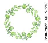 floral wreath. botanical... | Shutterstock . vector #1316238941