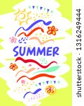 best summer abstract template... | Shutterstock .eps vector #1316249444