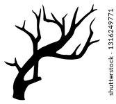 old dry  bare tree. black... | Shutterstock .eps vector #1316249771