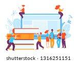 vector ediucation illustration... | Shutterstock .eps vector #1316251151