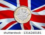 new british one pound sterling... | Shutterstock . vector #1316260181