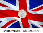 1 uk pound coin. uk pound... | Shutterstock . vector #1316260271