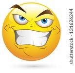 smiley illustration   evil... | Shutterstock . vector #131626244