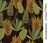 tropical background with palm... | Shutterstock .eps vector #1316277941