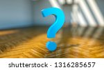 question mark in front of a... | Shutterstock . vector #1316285657