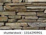 Gray Stone Wall Background...