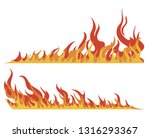 set of fires. collection of... | Shutterstock .eps vector #1316293367