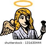 vector illustration of an angel ... | Shutterstock .eps vector #131630444