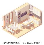 vector isometric kitchen...   Shutterstock .eps vector #1316305484