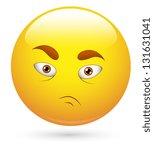 smiley illustration   desperate ... | Shutterstock . vector #131631041