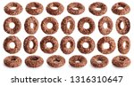Chocolate Corn Rings Isolated...