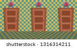 choices doors. vector flat...   Shutterstock .eps vector #1316314211