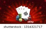 big win illustration banner on... | Shutterstock .eps vector #1316321717