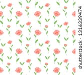 cute floral pattern in the... | Shutterstock .eps vector #1316339474