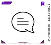 chat icon  vector . best modern ...