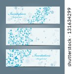 floral banners | Shutterstock .eps vector #131634299