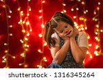 funny girl with funny pigtails... | Shutterstock . vector #1316345264