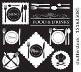 menu labels set for restaurants ... | Shutterstock .eps vector #131635085