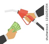 payment for fuel  buying petrol ... | Shutterstock .eps vector #1316352554