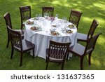 table setting with chairs for... | Shutterstock . vector #131637365