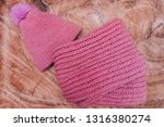 Warm Knitted Wool Hat With A...