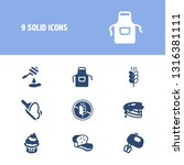 dessert icon set and apron with ...