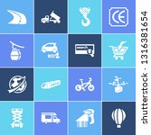 transport icon set and...