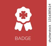 badge icon. editable  badge... | Shutterstock .eps vector #1316385614