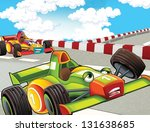 the formula race   super car  ... | Shutterstock . vector #131638685