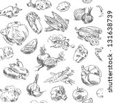 freehand drawing vegetables.... | Shutterstock .eps vector #131638739