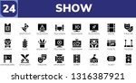 show icon set. 24 filled show... | Shutterstock .eps vector #1316387921
