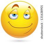 smiley illustration   satisfied ... | Shutterstock . vector #131638901