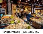 spice market  istanbul  turkey  ... | Shutterstock . vector #1316389457