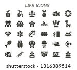 life icon set. 30 filled life... | Shutterstock .eps vector #1316389514