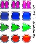 shiny metallic glowing control... | Shutterstock .eps vector #13163899