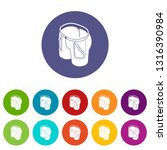 jeans icons color set vector... | Shutterstock .eps vector #1316390984