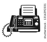 fax prints icon. simple... | Shutterstock .eps vector #1316392331