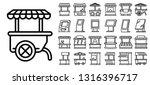 kiosk icons set. outline set of ... | Shutterstock .eps vector #1316396717