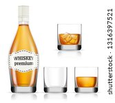 whisky icons set. realistic set ... | Shutterstock .eps vector #1316397521