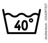 wash at 40 degree or bellow... | Shutterstock .eps vector #1316397527