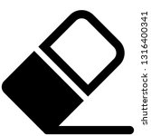 icon shows an eraser. pixel... | Shutterstock .eps vector #1316400341