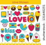 love stickers collection.... | Shutterstock .eps vector #131640251